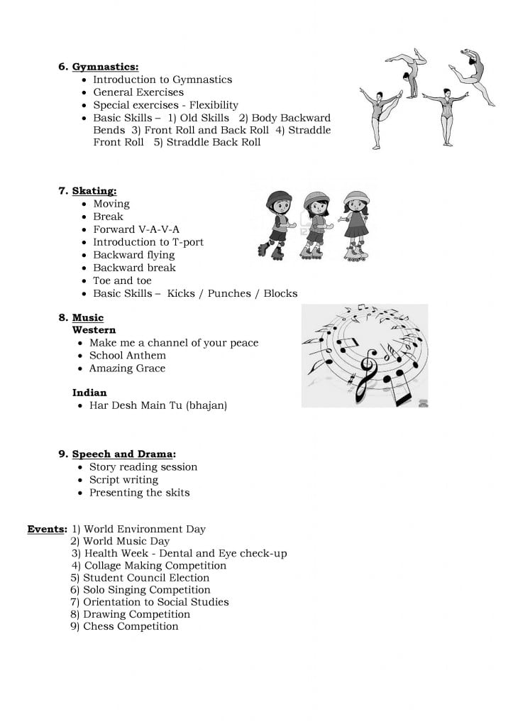 Std. V B – A Glimpse into the  Co-curricular Activities: June – July, 2013.