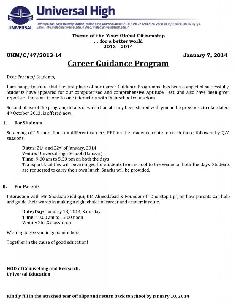 Career Guidance Program Mumbai for Std. X students