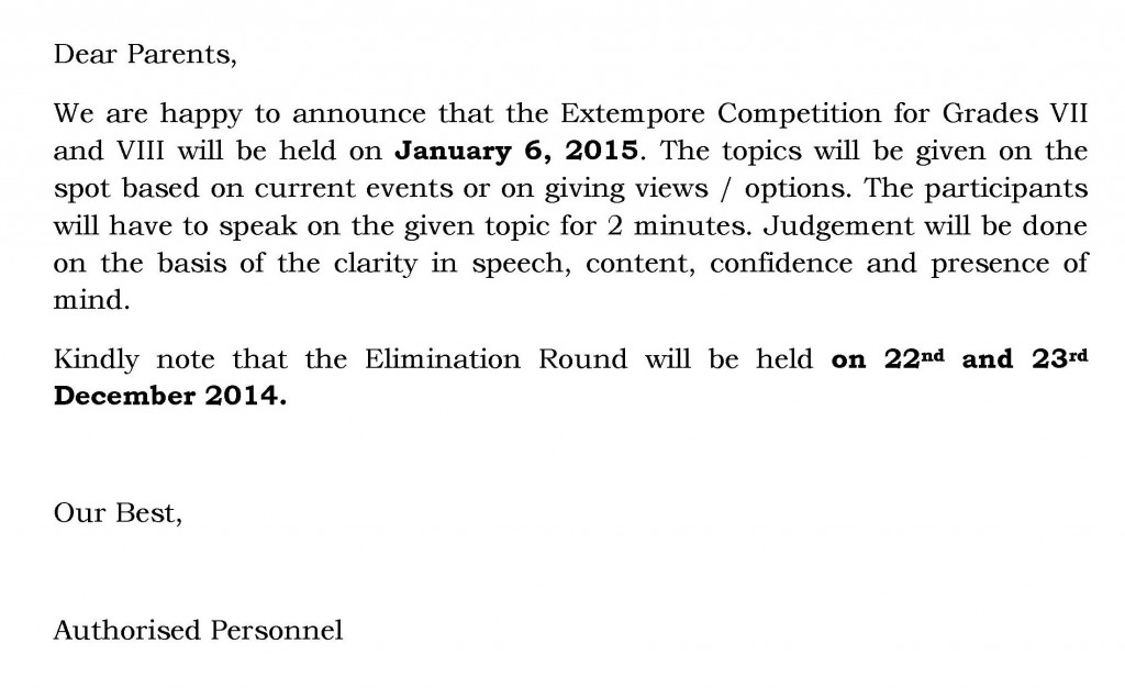 UHM/C/40-2014-15 – Circular for Inter-House Extempore Competition.