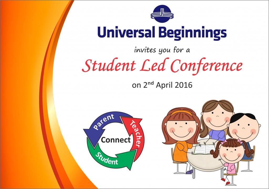 Sr. Kg. – Invite For Student Led Conference.