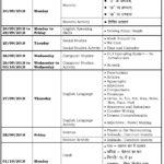 Class III – Second Formative Assessment Schedule – 2018-19.