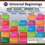 TASKS Calendar- November, 2018