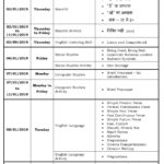 Class III – Third Formative Assessment Schedule – 2018-19