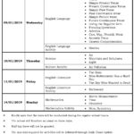 Class IV – Third Formative Assessment Schedule – 2018-19