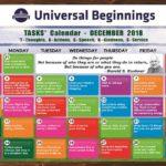 TASKS Calendar- December, 2018 for Pri-Primary